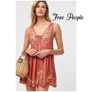 Free People Intimately Embroidered Aida Slip